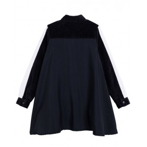 Black logo dress