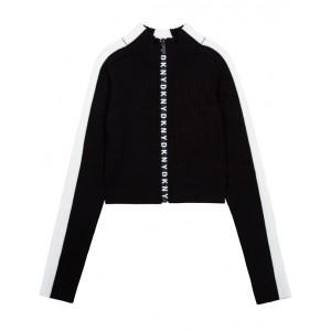 Black zip-up top