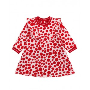 Red cheetah pattern dress