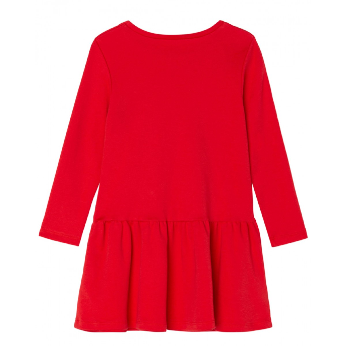 Logo cotton dress in red