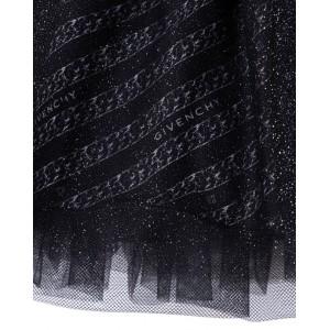 All-over logo glitter skirt
