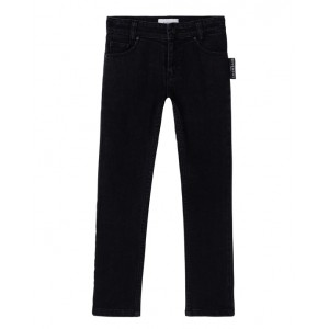 Black denim slim-fit jeans