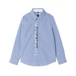 Blue striped logo shirt