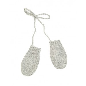 Baby mittens in grey