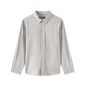 Checked twill grey shirt