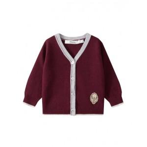 Baby boy wool cardigan burgundy
