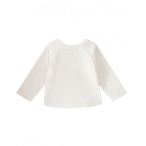 Long sleeve T-shirt in alabaster white