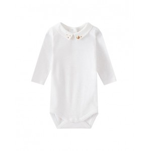 Onesie with embroidered collar
