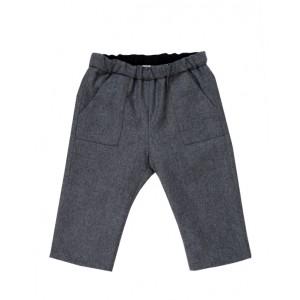 Gray baby boy pants