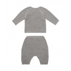 Cabled wool baby set