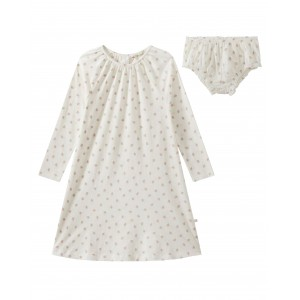 Printed nightgown with matching bloomers