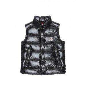 Quilted down vest in navy