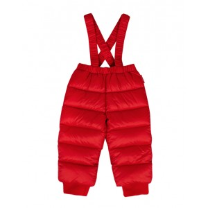 Red down padded snowsuit