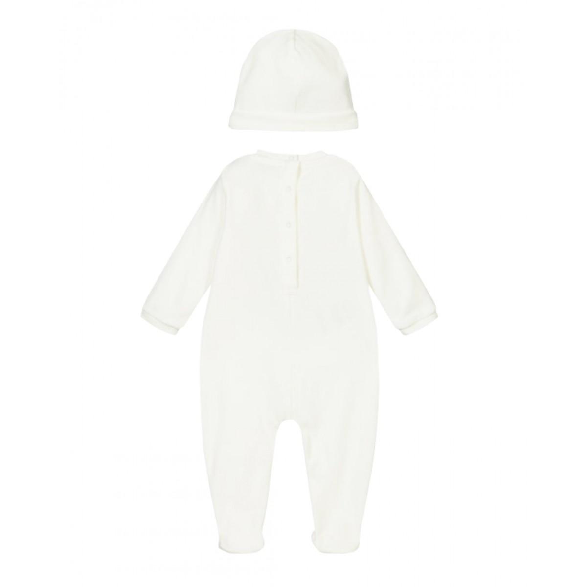Babygrow overal & hat gift set