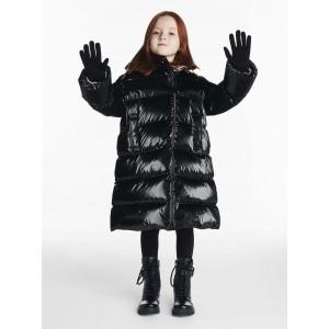 Black down padded coat