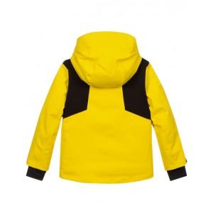 Boys yellow down ski jacket