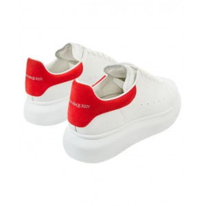 ALEXANDER MCQUEEN Red and white leather sneakers