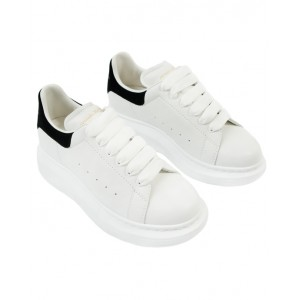 ALEXANDER MCQUEEN Black and white leather sneakers