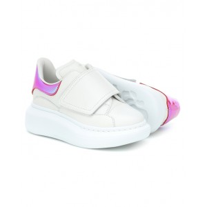 White and pink holo oversized sneakers