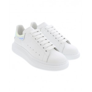 ALEXANDER MCQUEEN White and Holo Oversized sneakers