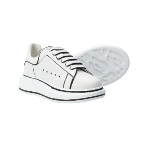 ALEXANDER MCQUEEN White oversized sneakers with graphic details