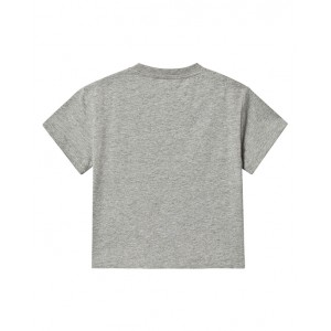 BURBERRY Grey logo print T-shirt