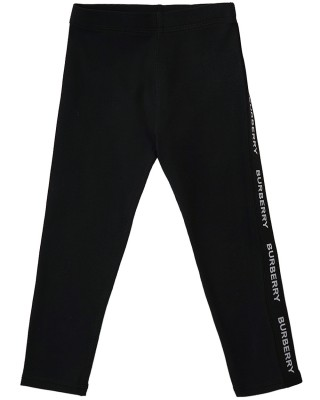 BURBERRY Legging for baby girls with logo tape