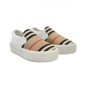 BURBERRY Slip-on Icon stripe trainers