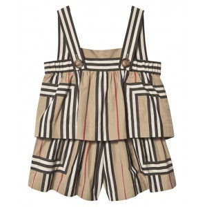 BURBERRY Icon Striped playsuit
