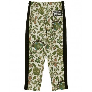 Botanical print track trousers