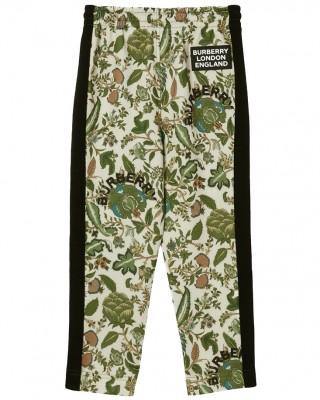 BURBERRY Botanical print track trousers