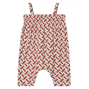 BURBERRY Playsuit with monogram motif