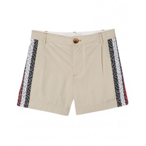 BURBERRY Shorts with side stripes