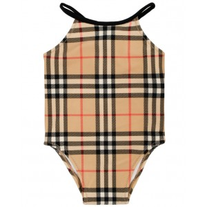 BURBERRY Check pattern swimsuit