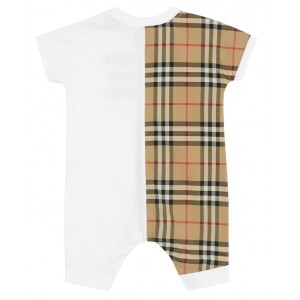 BURBERRY Vintage check paneled romper