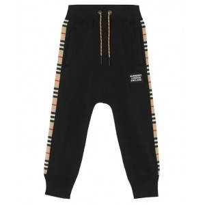 BURBERRY Side-panel jogger bottoms