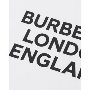 BURBERRY Long sleeved logo print T-shirt in white