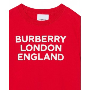 BURBERRY Logo print T-shirt in red