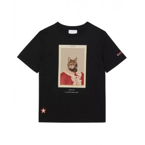 BURBERRY Character print cotton T-shirt in black