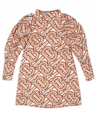 BURBERRY Monogram motif silk dress
