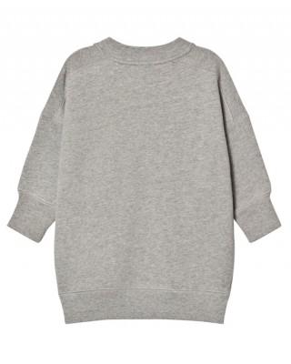 BURBERRY Grey sweatshirt dress with graphic print