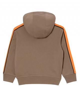 Graphic print hooded sweatshirt