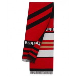 Logo and Icon stripe scarf
