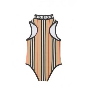 Icon Stripe Zip-front Swimsuit