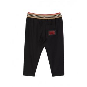 Icon stripe detail cotton trousers