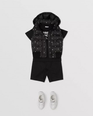 Star and monogram motif gilet