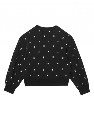 Star and Monogram Motif Cotton Sweatshirt
