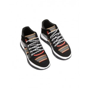 Icon stripe high-top sneakers