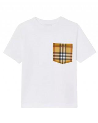 T-shirt with vintage check pocket