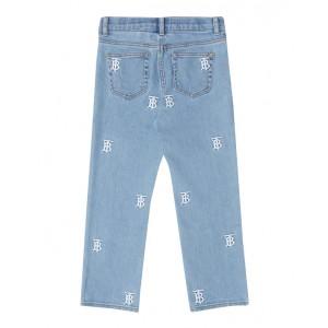 Denim jeans with monogram motif